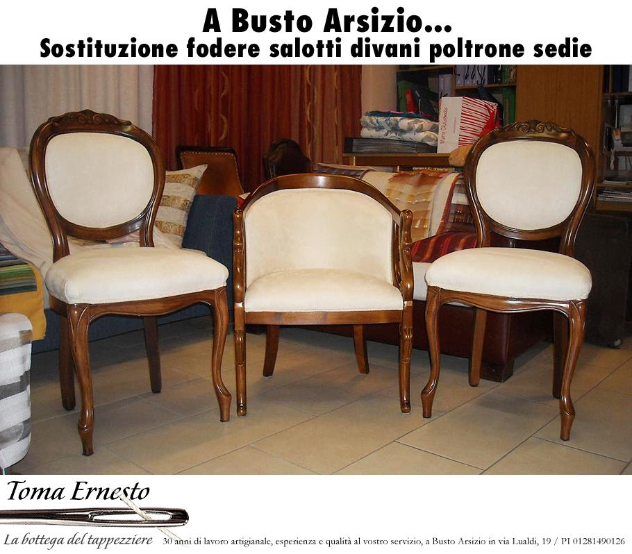 Sostituzione fodere salotti divani poltrone sedie